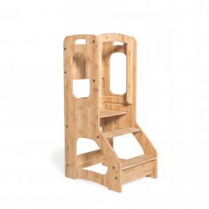 toddler chef stool bamboo
