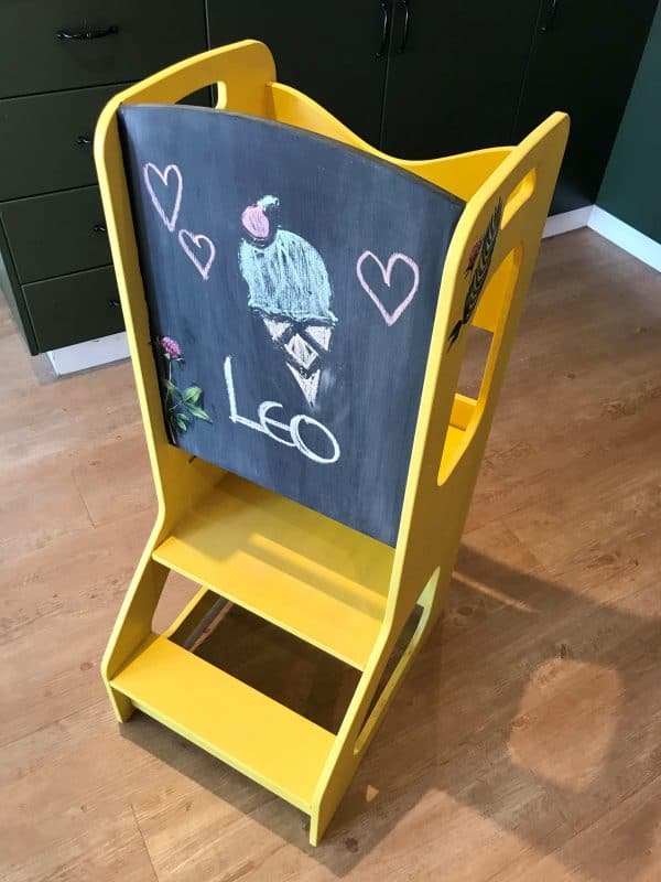 Toddler Chef Stool painted